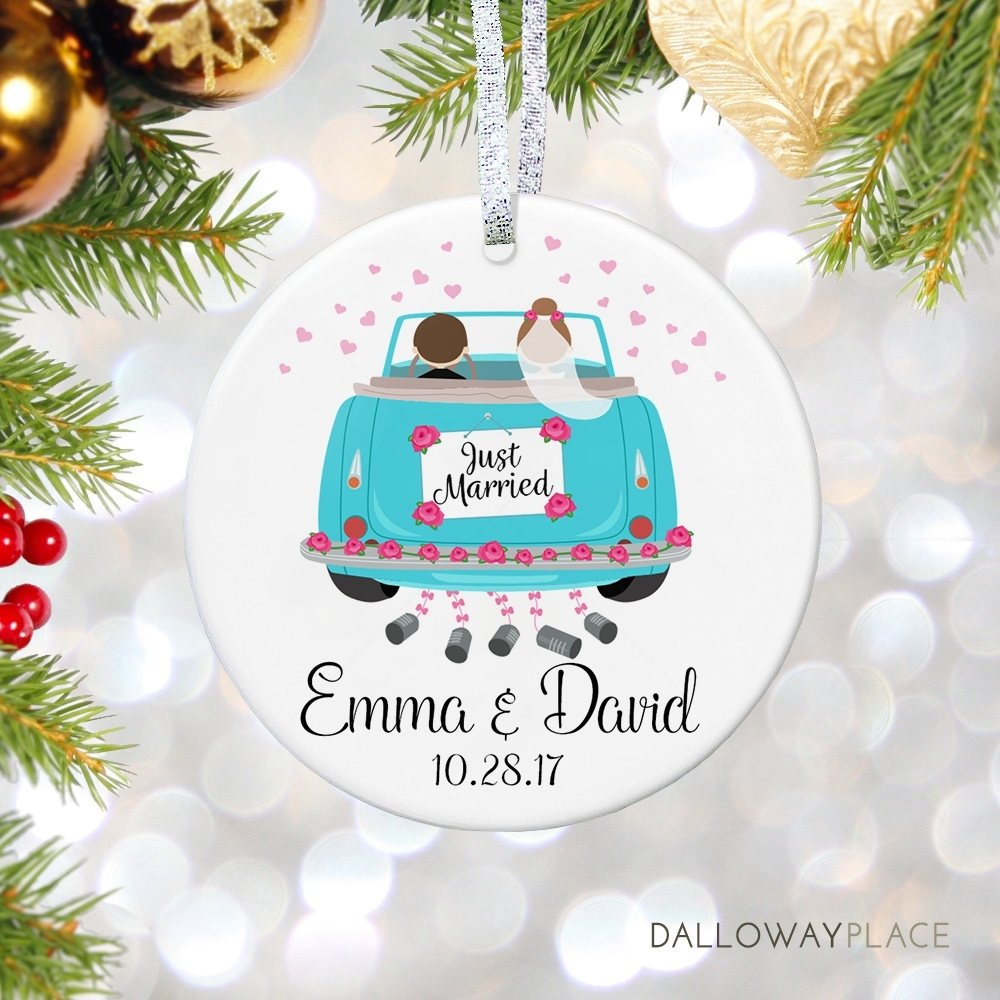 10 Nice First Christmas Married Gift Ideas just married gift ornament personalized our first christmas 2020