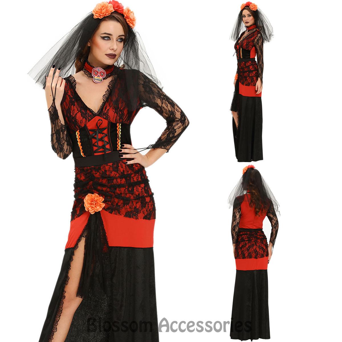 10 Fabulous Day Of The Dead Dress Ideas k262 day of dead senorita mexican halloween womens fancy dress 2020