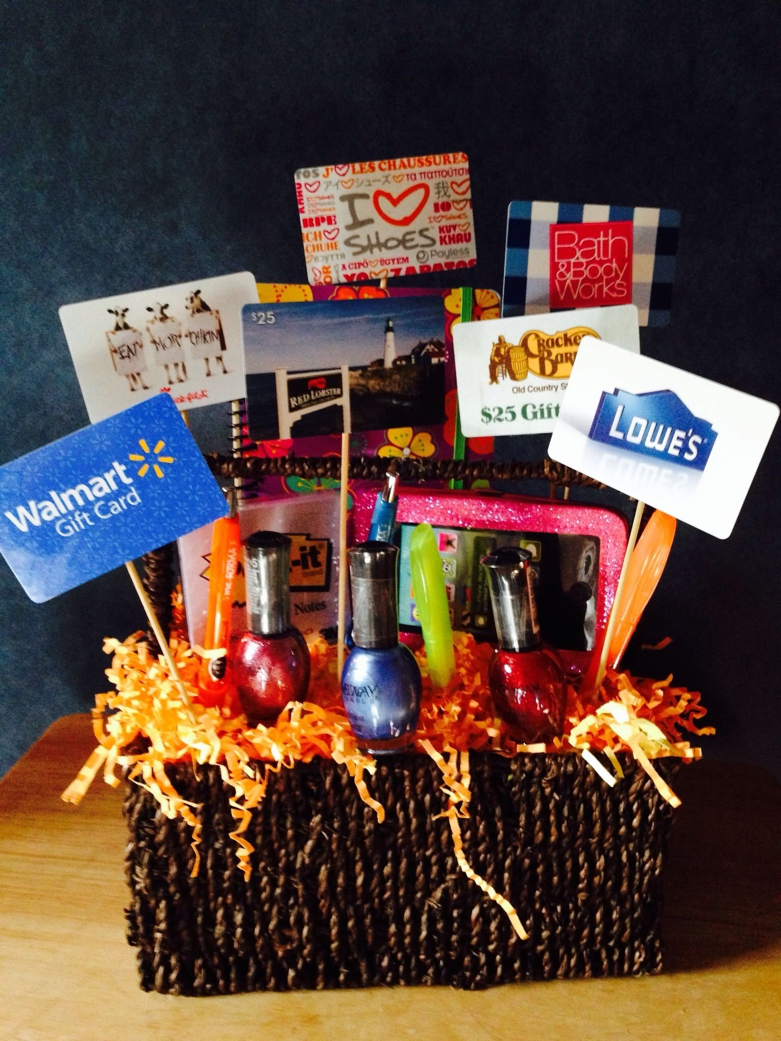 10 Best Gift Card Gift Basket Ideas kara and mason love this idea lowes hobby lobby home depot bed 1 2020