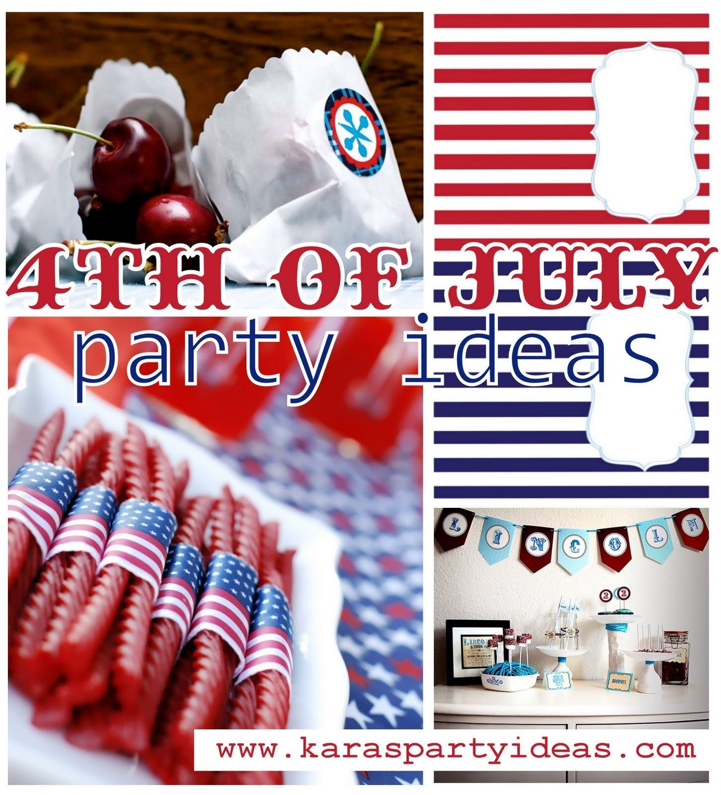 10 Gorgeous Ideas For 4Th Of July Party karas party ideas 4th of july party idea roundup party on a 3