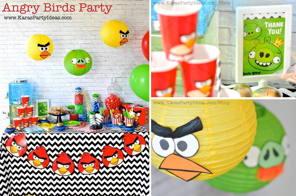 kara's party ideas angry birds themed birthday party planning ideas