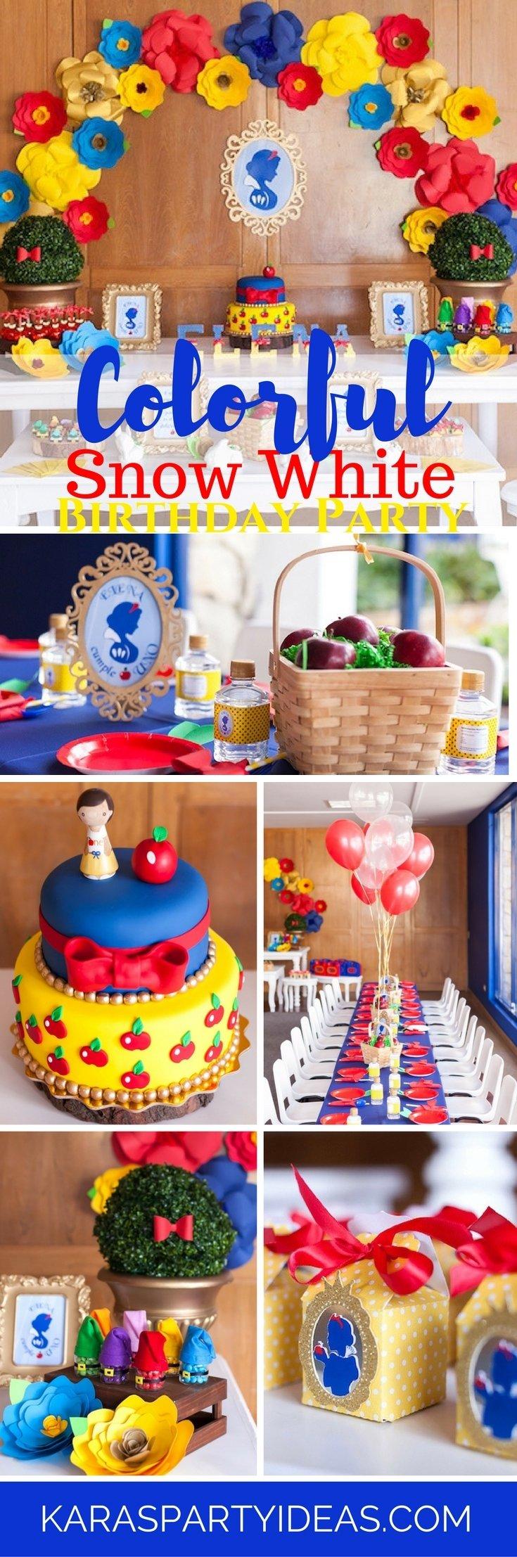 10 Fashionable Snow White Birthday Party Ideas karas party ideas colorful snow white birthday party karas party