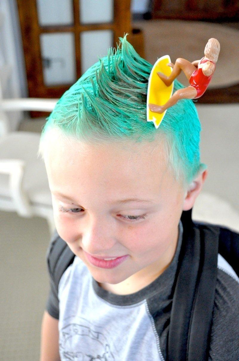 10 Unique Crazy Hair Ideas For Kids karas party ideas crazy hair day ideas surfs up bugs grass