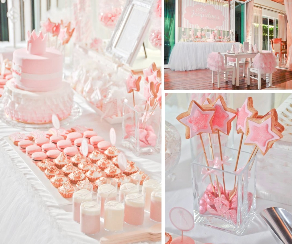 kara's party ideas daddy's little princess girl ballet 1st birthday