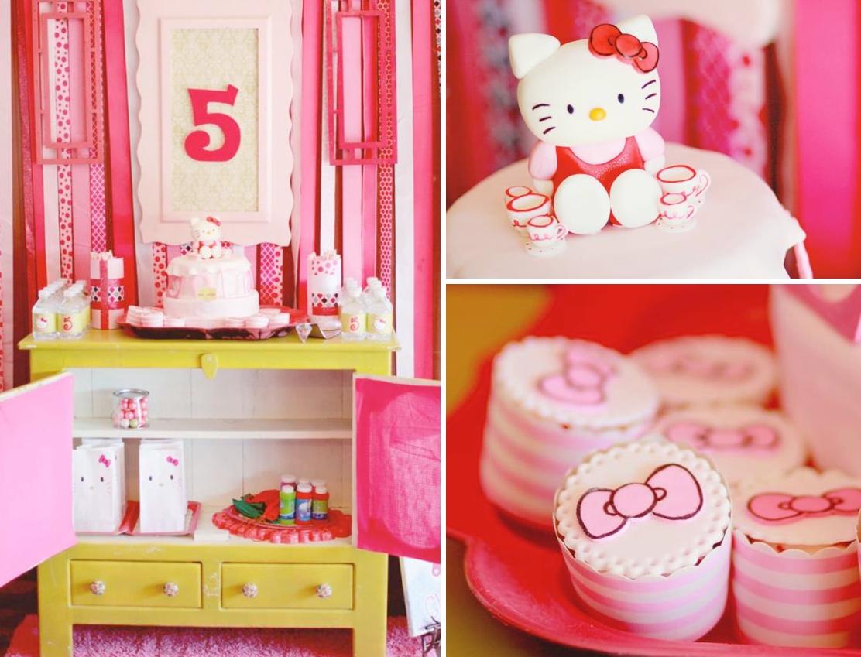 10 Unique Hello Kitty Party Decoration Ideas karas party ideas hello kitty girl pink 5th birthday tea party 3 2021