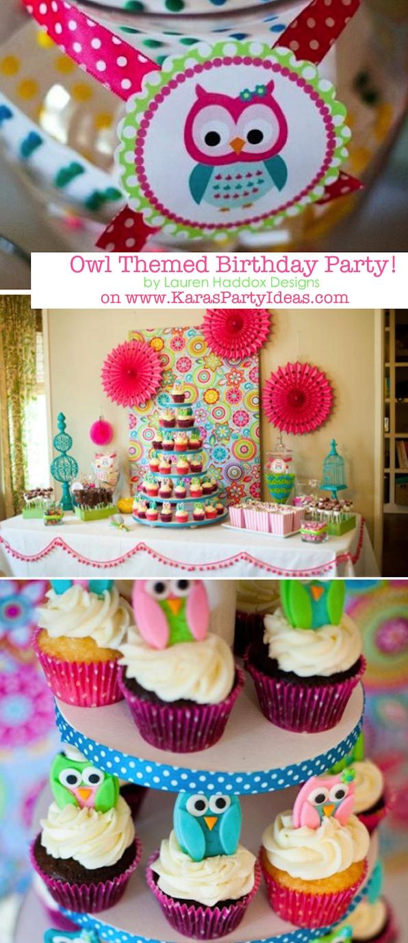 10 Lovely Baby Girl 1St Birthday Party Ideas karas party ideas owl whoos one themed birthday party supplies 2021