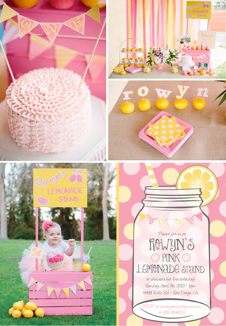 kara's party ideas pink lemonade girl summer 1st birthday party