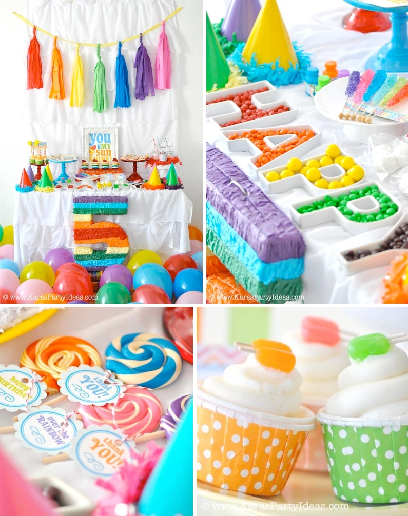 kara's party ideas rainbow themed birthday party | kara's party