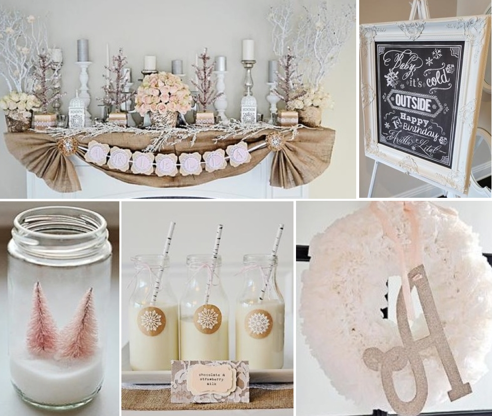 10 Gorgeous Winter Birthday Party Ideas For Adults karas party ideas rustic shabby winter wonderland girl 1st birthday 1 2021
