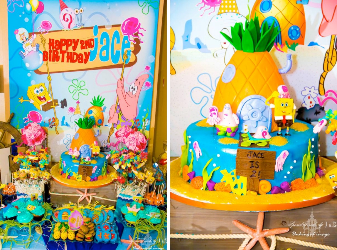 kara's party ideas spongebob squarepants under the sea 2nd birthday