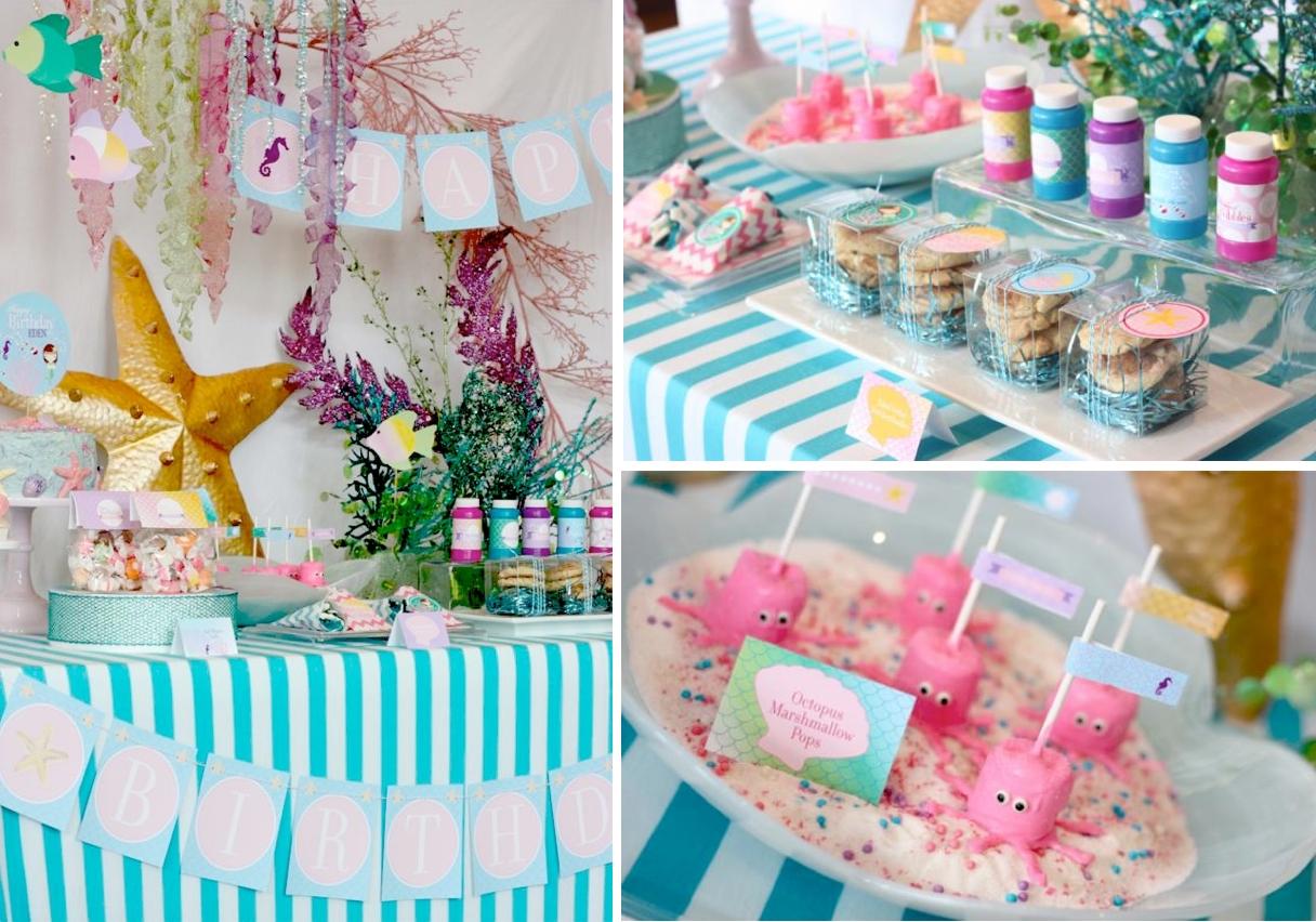 10 Pretty Little Mermaid Birthday Party Ideas karas party ideas whimsical mermaid girl under the sea birthday 2 2021
