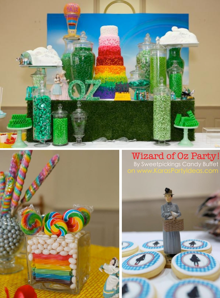 kara's party ideas wizard of oz rainbow wedding party decorations
