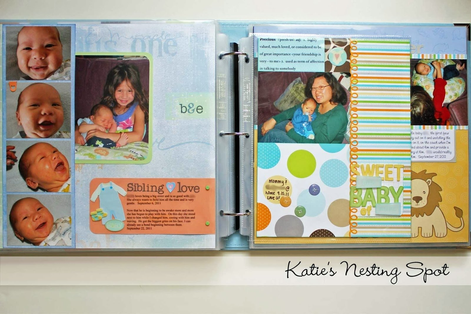 10 Fabulous Scrapbooking Ideas For Baby Boy katies nesting spot baby boy scrapbook pages mixing page sizes 2021
