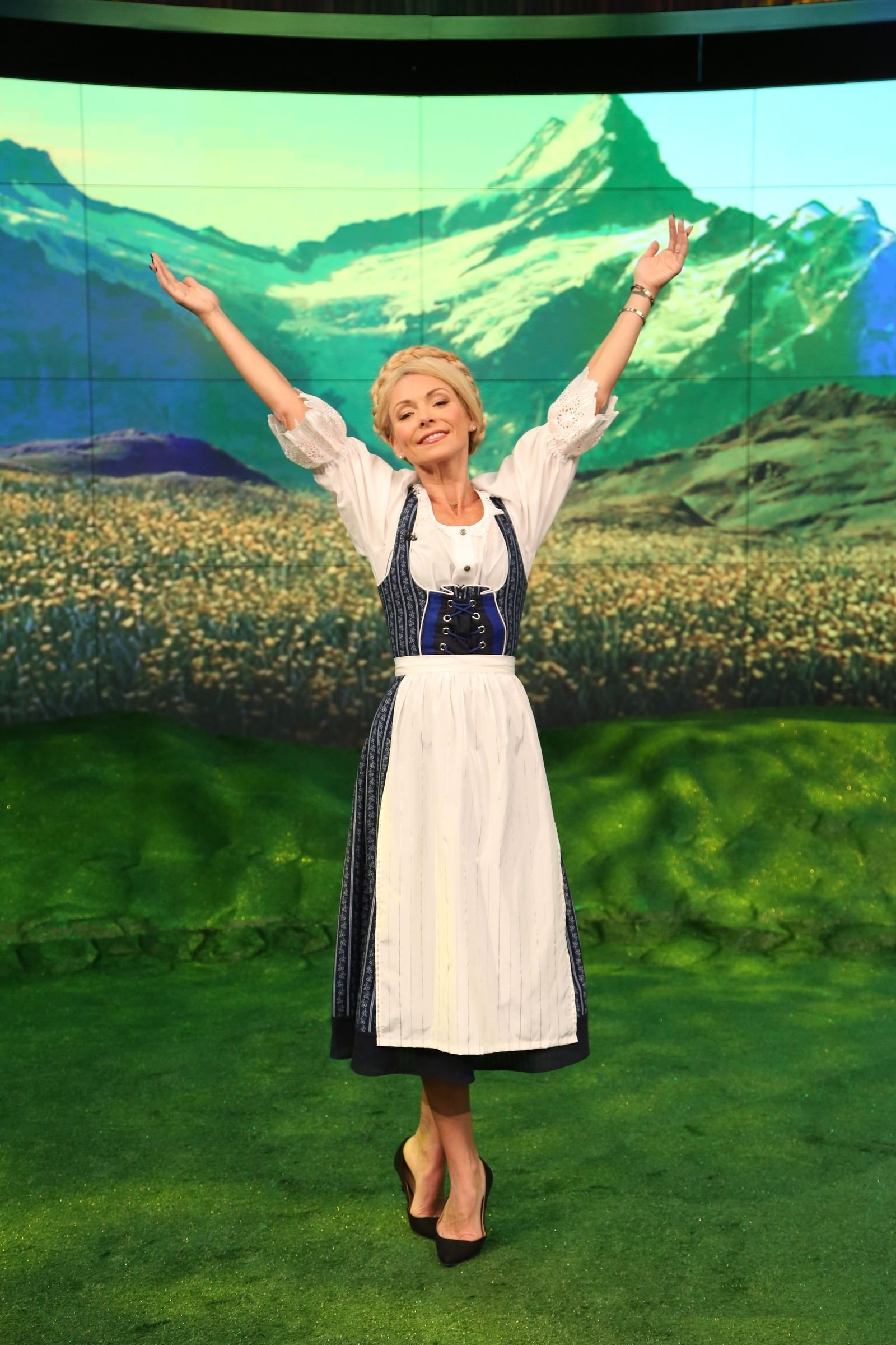 10 Most Recommended Sound Of Music Costume Ideas kelly ripa as maria rainer from the sound of music live for 2020