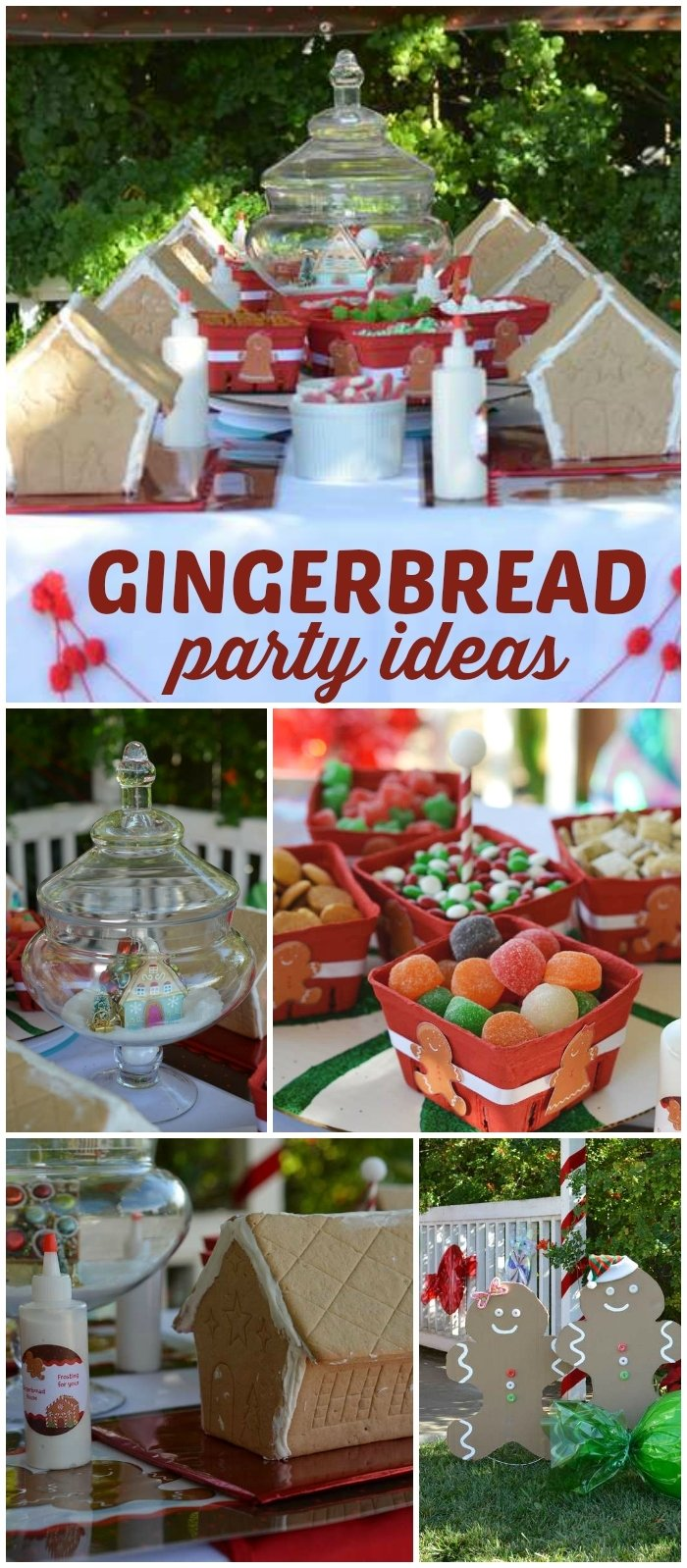 10 Fashionable Gingerbread House Decorating Party Ideas kid friendly gingerbread house party christmas holiday 2020