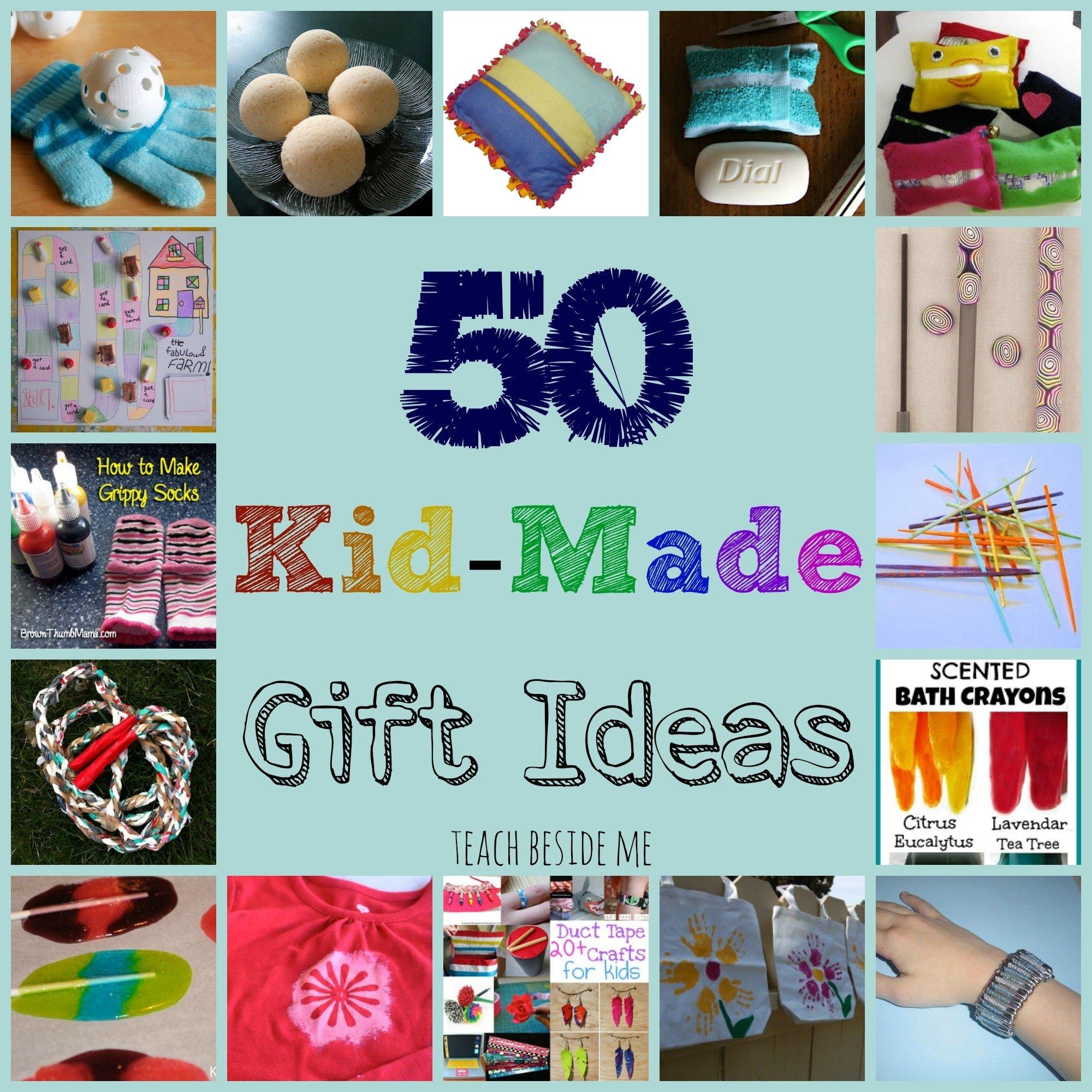 10 Spectacular Homemade Gift Ideas For Grandma kid made gift ideas for family teach beside me 3