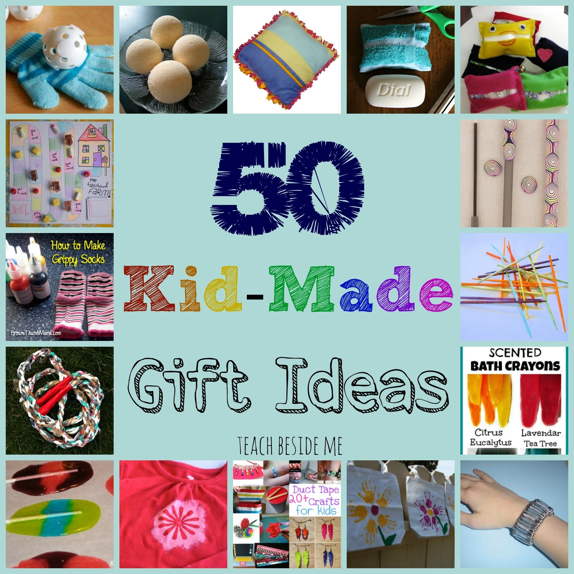 10 Most Popular Gift Ideas For Kids To Make kid made gift ideas for family teach beside me 7 2021