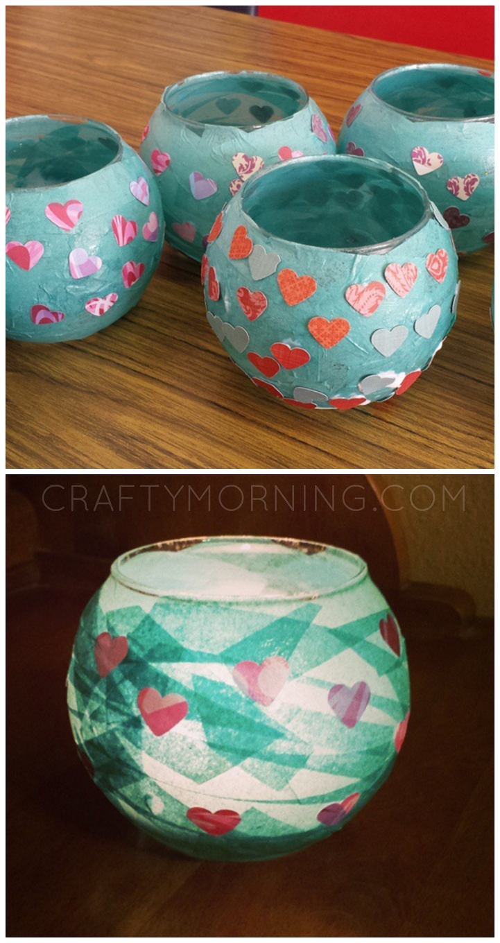 10 Awesome Cute Mothers Day Craft Ideas kid made mod podge candle holders what a cute mothers day gift