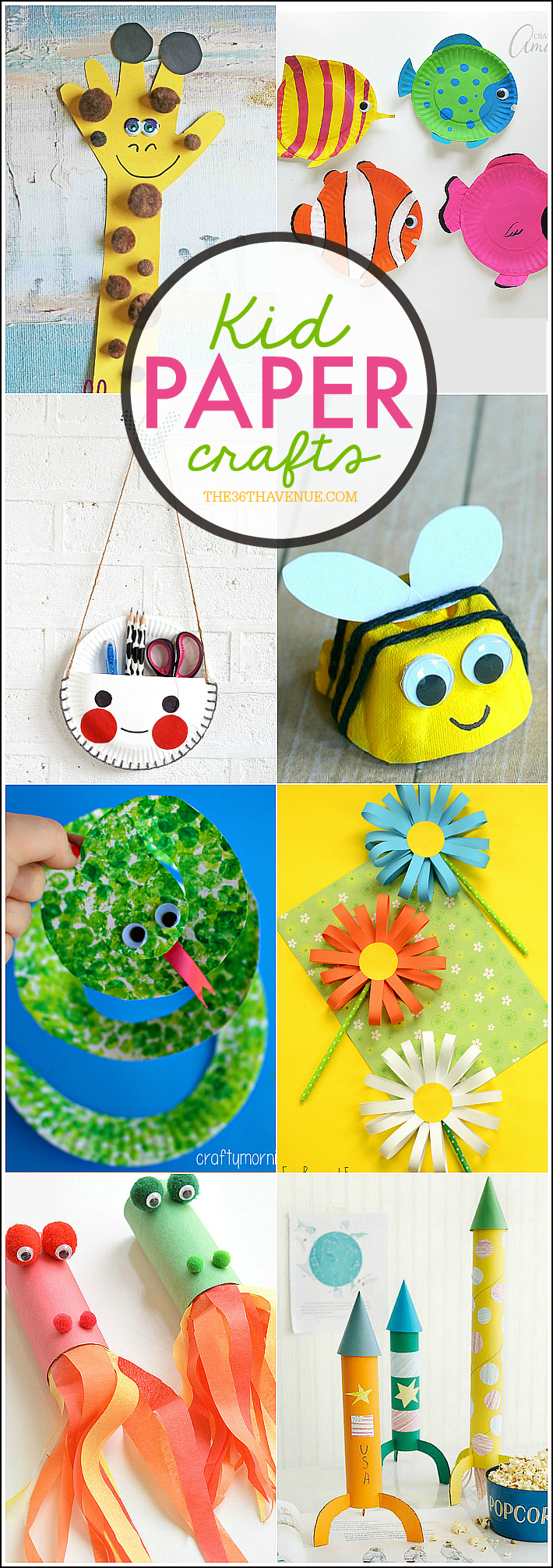 10 Unique Ideas For Crafts For Kids kid paper crafts the 36th avenue