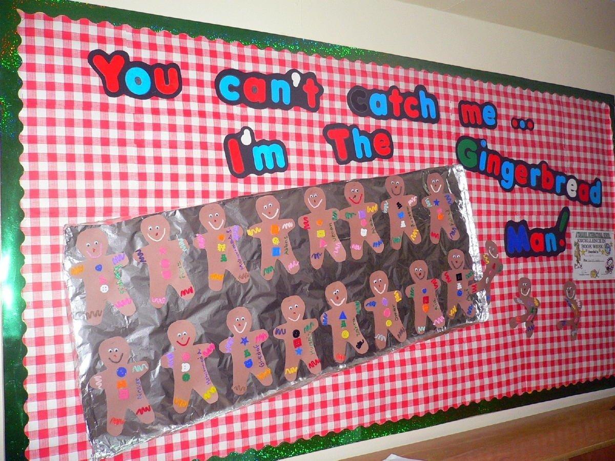 10 Perfect Gingerbread Man Bulletin Board Ideas kiddos decorate the gingerbread men glue on aluminum foil cute 2020