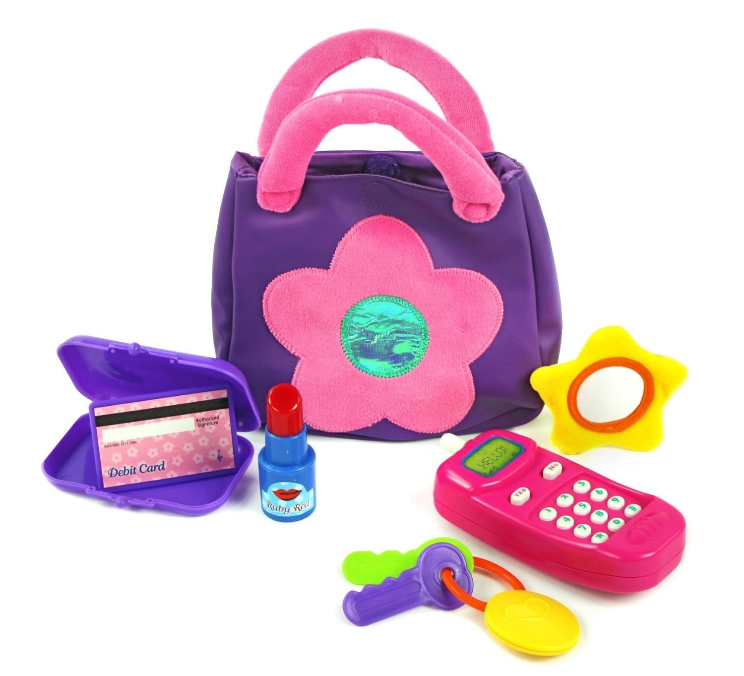 10 Nice Gift Ideas For 2 Yr Old Girl kidoozie my first purse cheap baby christmas birthday toys gift 1 2021