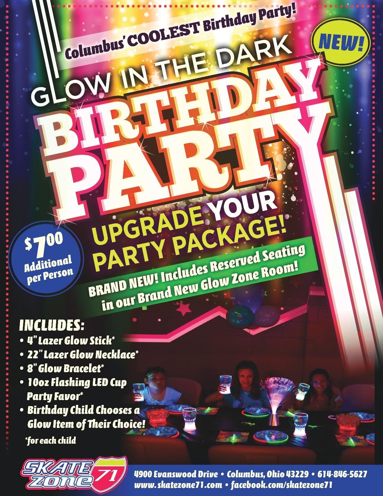 kids birthday parties columbus | skate zone 71 columbus