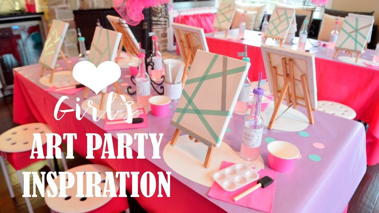 10 Fantastic Birthday Party Ideas For Girls kids birthday party ideas girls art painting youtube 1 2020