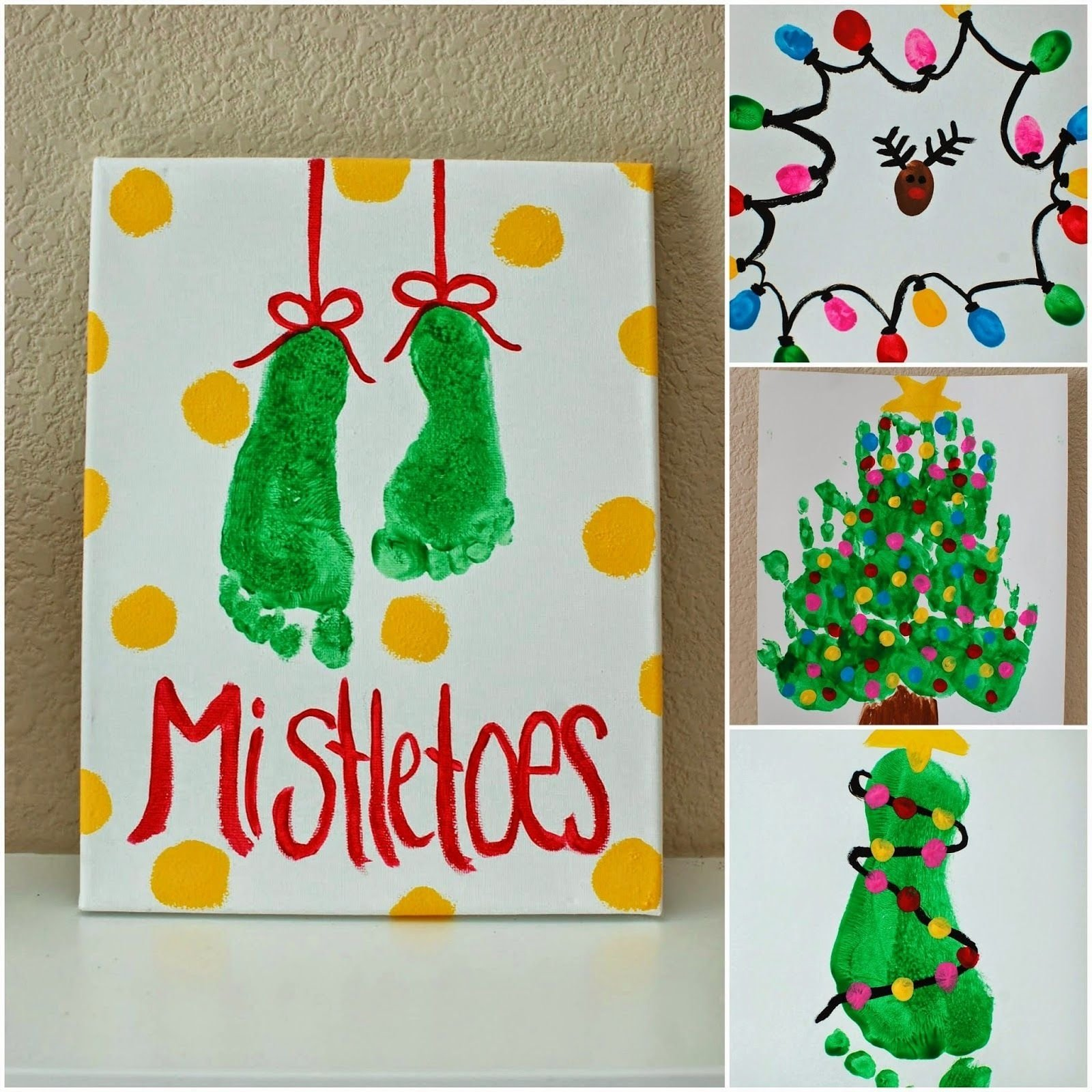 10 Nice Christmas Craft Ideas For Toddlers kids christmas projects foot prints hand prints and finger prints