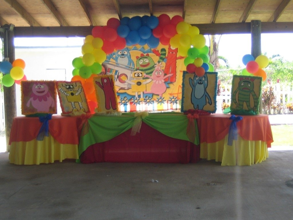 10 Great Yo Gabba Gabba Birthday Party Ideas kids decorations at ease party 2020