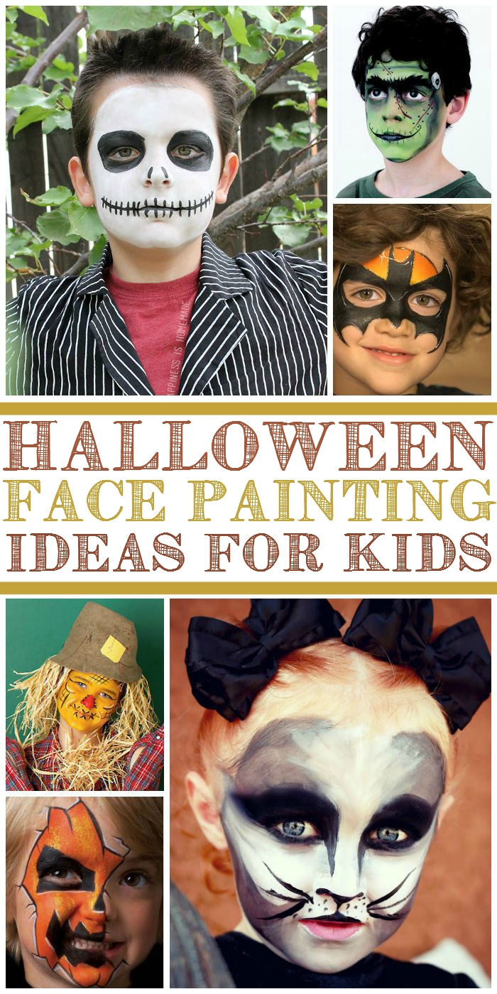 10 Best Face Painting For Halloween Ideas kids face painting ideas for halloween 3