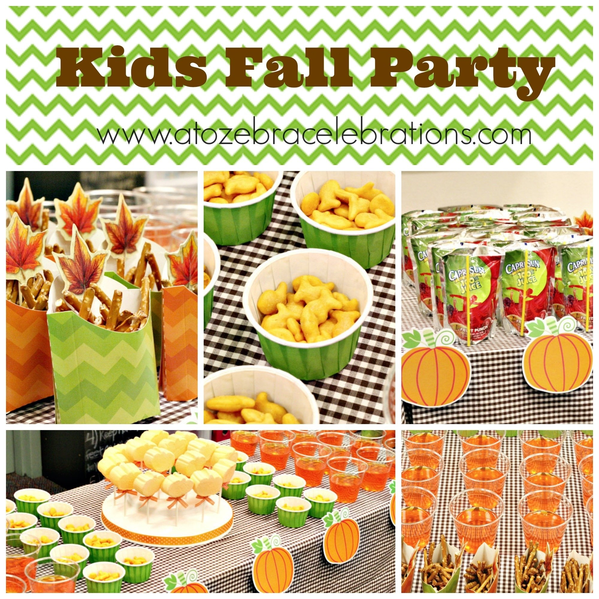kids fall party – a to zebra celebrations