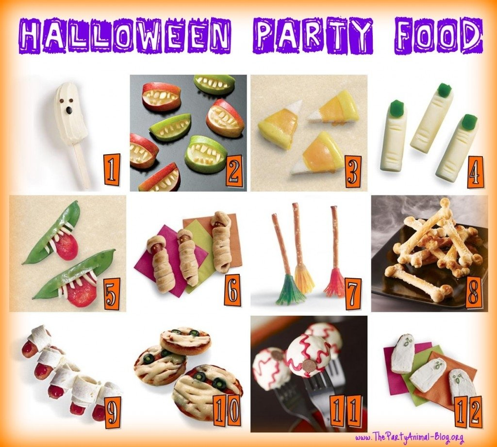 10 Awesome Halloween Party Food Ideas For Kids kids halloween party food 1024x922 mr costumes blog