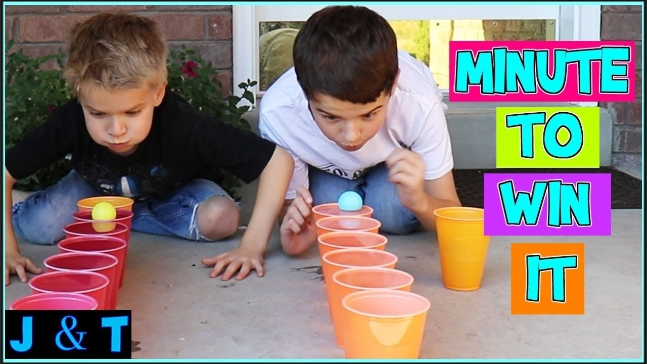 kids minute to win it games / jake and ty - youtube