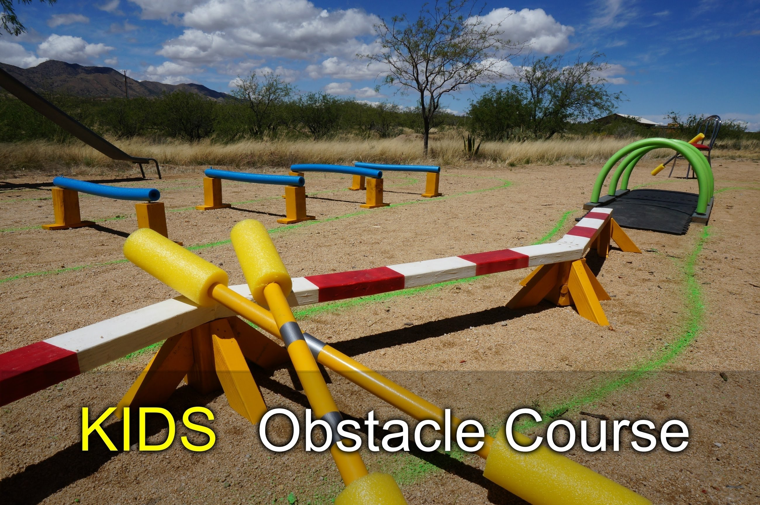 10 Fantastic Fun Obstacle Course Ideas For Adults kids obstacle course how to with scrap wood and pool noodles youtube