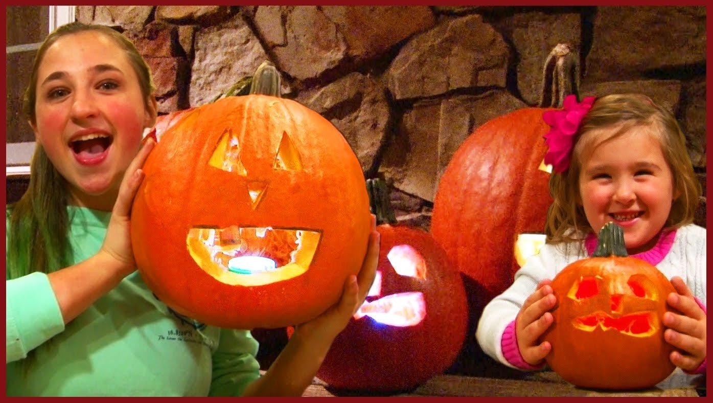 10 Famous Pumpkin Carving Ideas For Girls kids pumpkin carving fun scary prank on girls family reality 2020