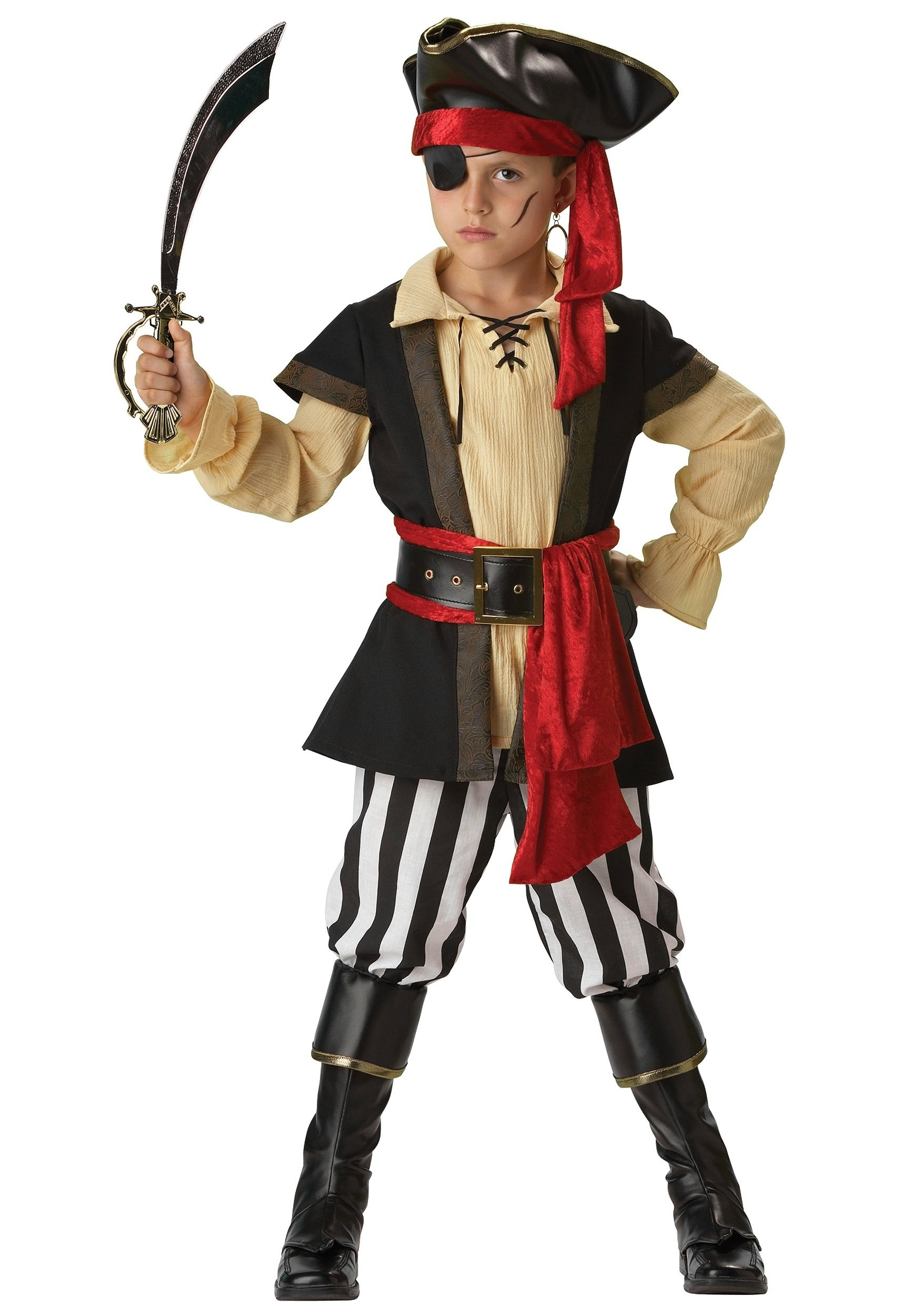 10 Famous Ideas For Halloween Costumes For Kids kids scoundrel pirate costume 2 2021
