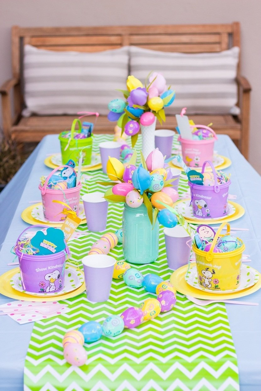 10 Spectacular Easter Party Ideas For Kids kids simple and colorful table decorations for easter easter party 2020