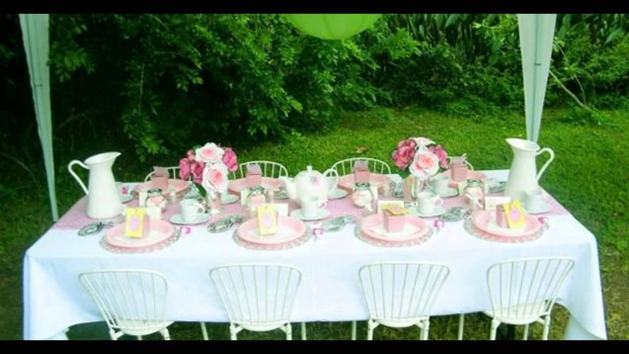 10 Attractive Tea Party Ideas For Girls kids tea party decorations at home ideas youtube 1 2020