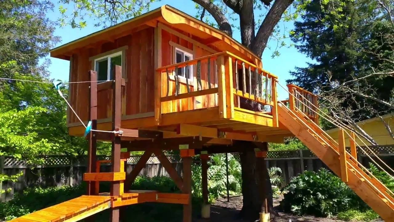 10 Wonderful Tree House Ideas For Kids kids treehouses treehouse builders in northern california kids 2020
