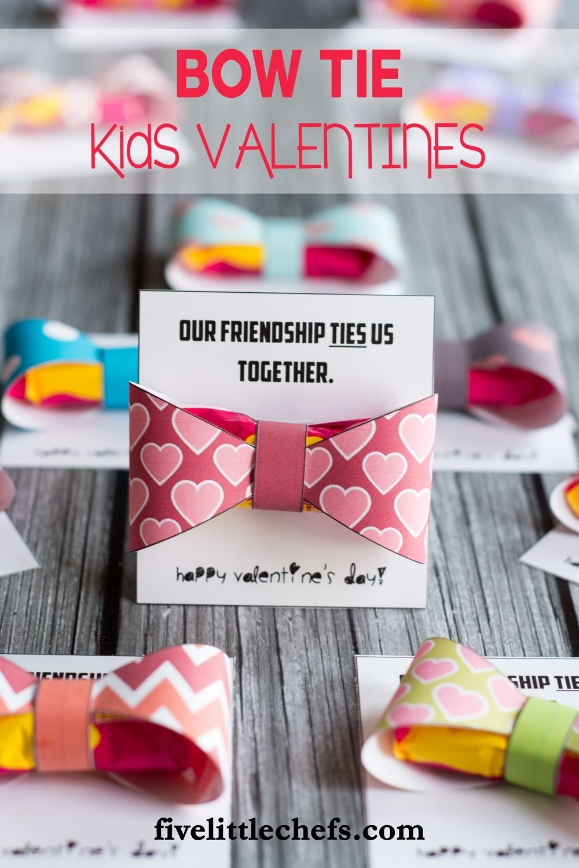 10 Attractive Cute Valentines Day Ideas For Kids kids valentines bow tie five little chefs 2020