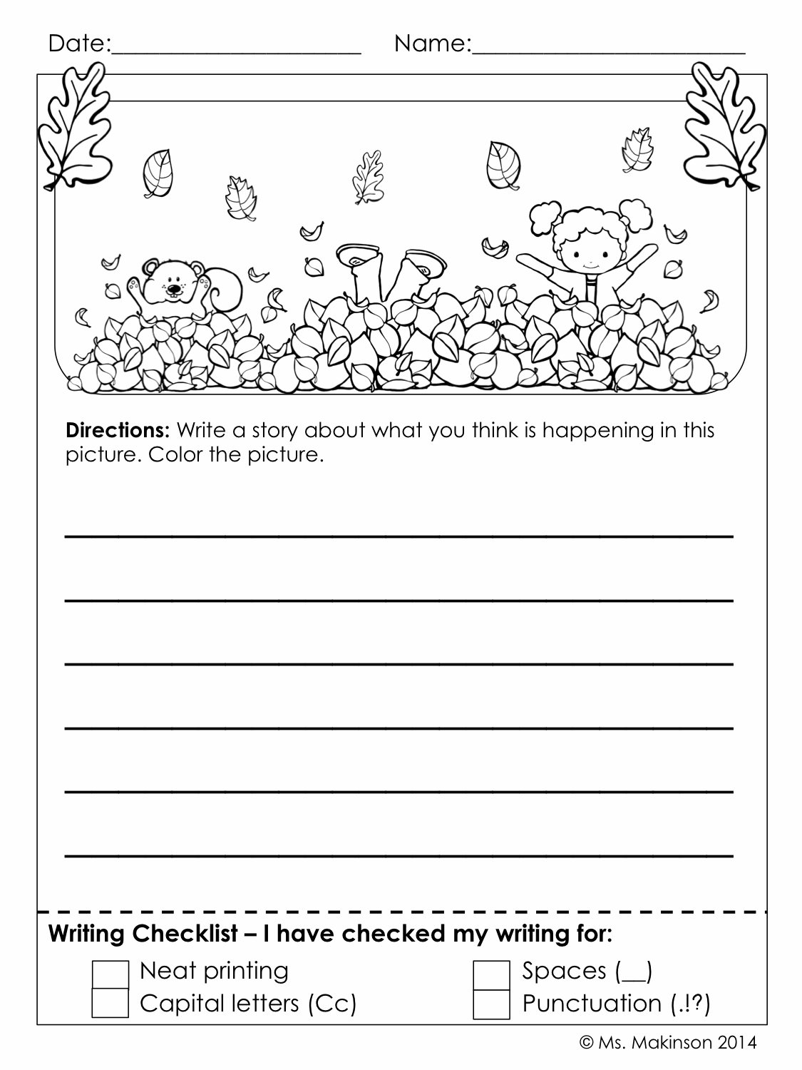 10 Spectacular Writing Ideas For First Grade kids writing activity for first grade first grade wow whats your 2020
