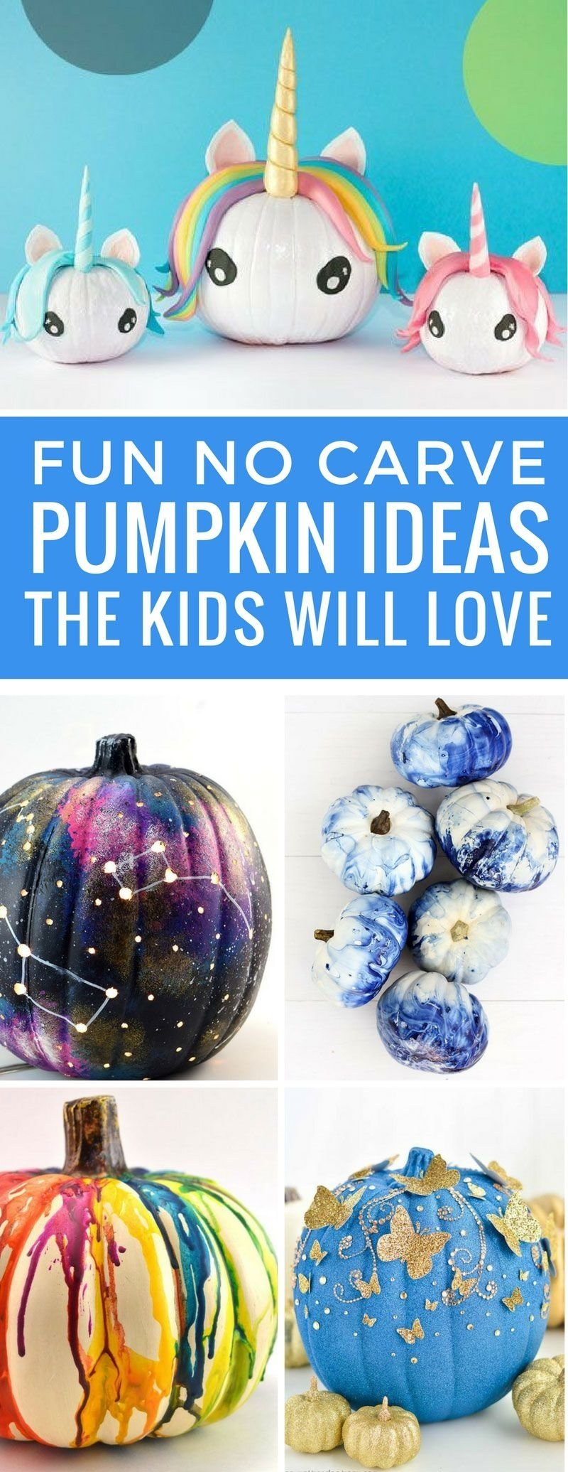 10 Famous No Carve Pumpkin Decorating Ideas killer no carve pumpkin ideas for halloween no knife required