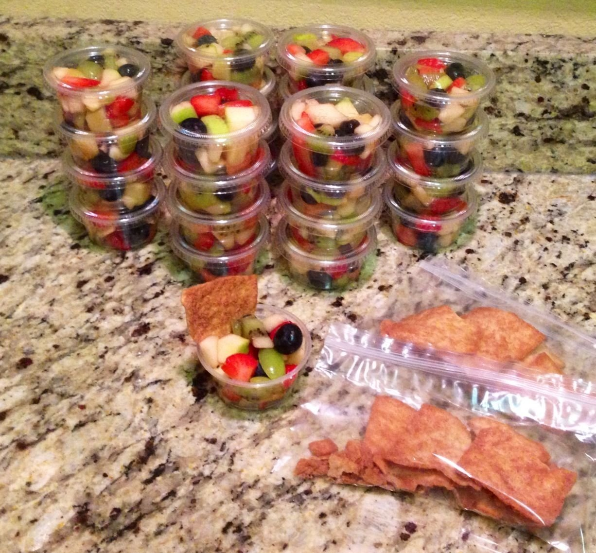 10 Attractive Snack Ideas For Kindergarten Class kindergarten class snack fruit salad cups with stacys cinnamon 2020