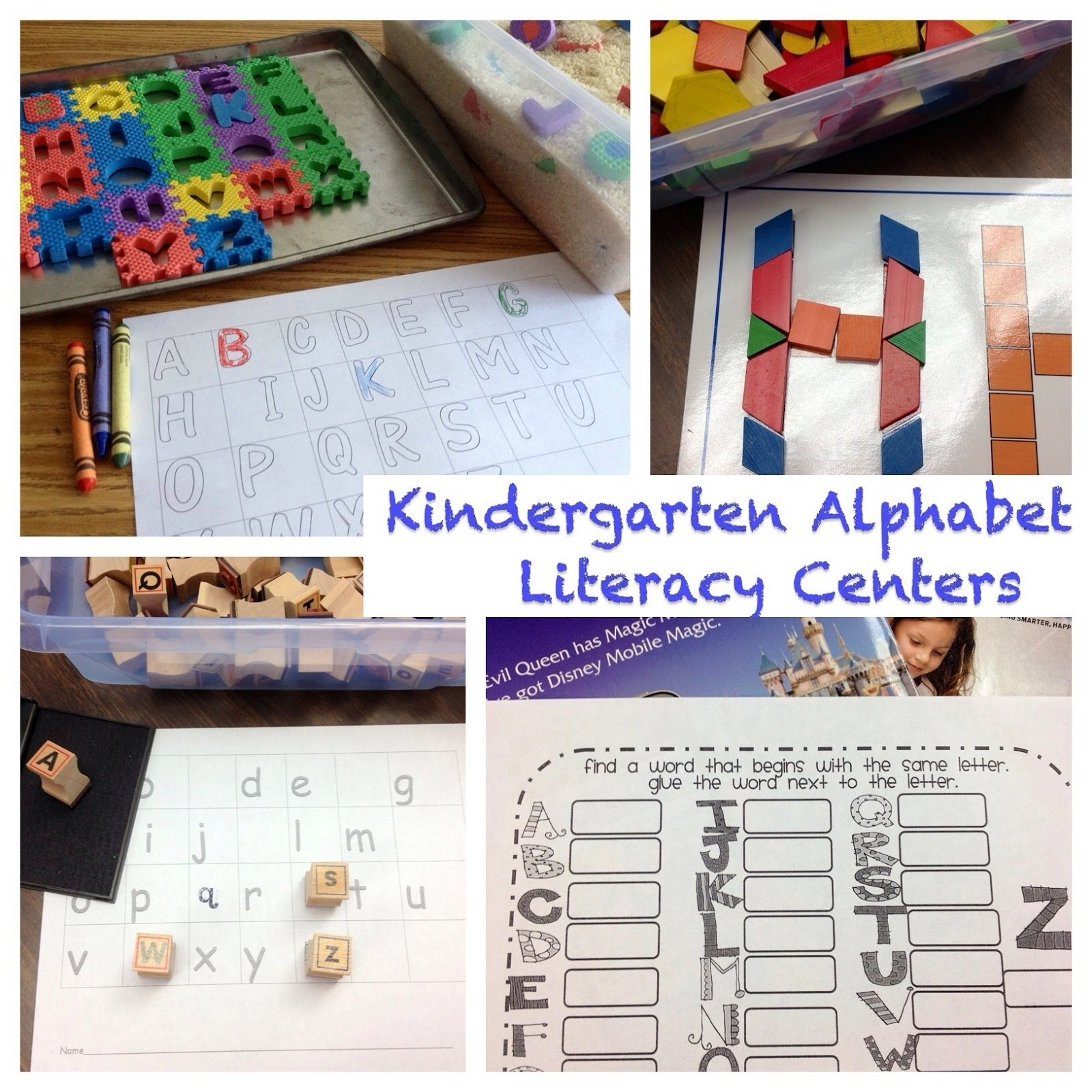 10 Lovely Literacy Center Ideas For Kindergarten kindergarten is crazy fun kindergarten abc literacy station ideas 1