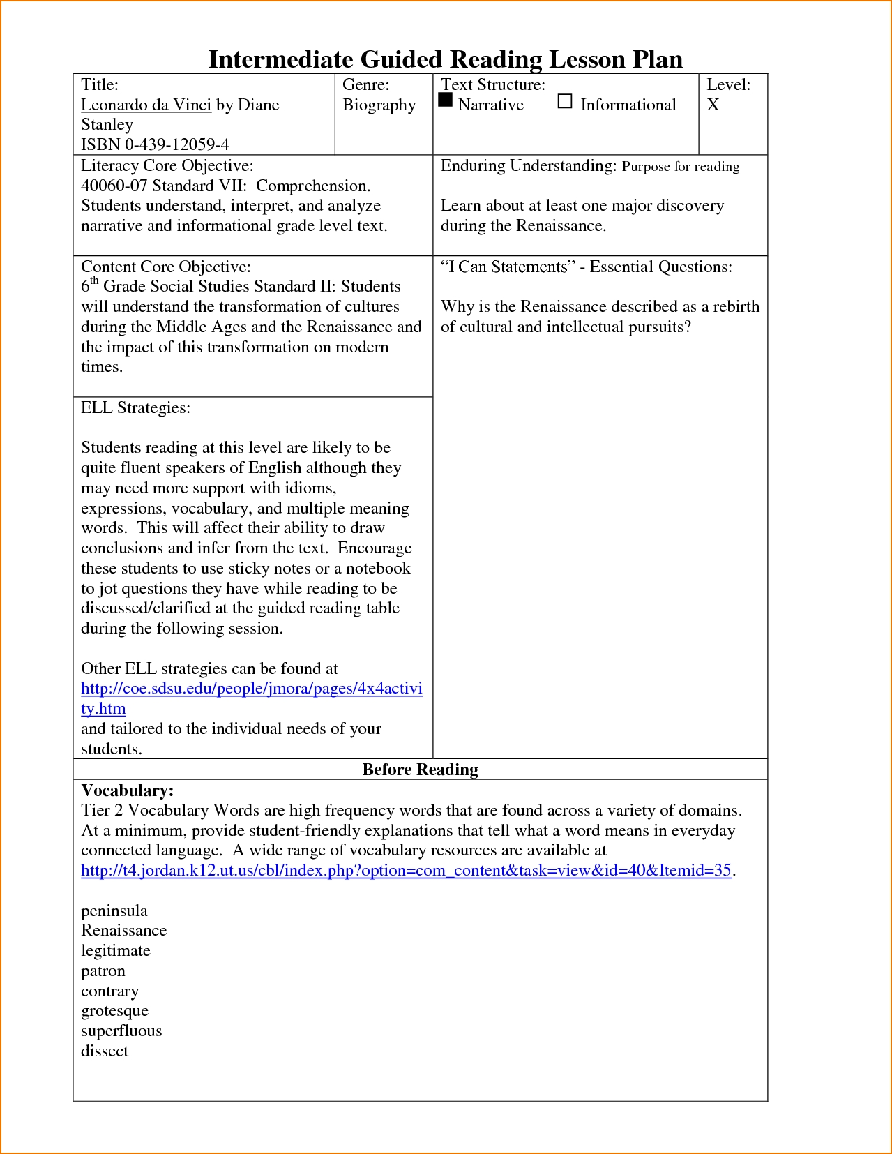 Most Popular Lesson Plan Ideas For Kindergarten - Sample kindergarten lesson plan template