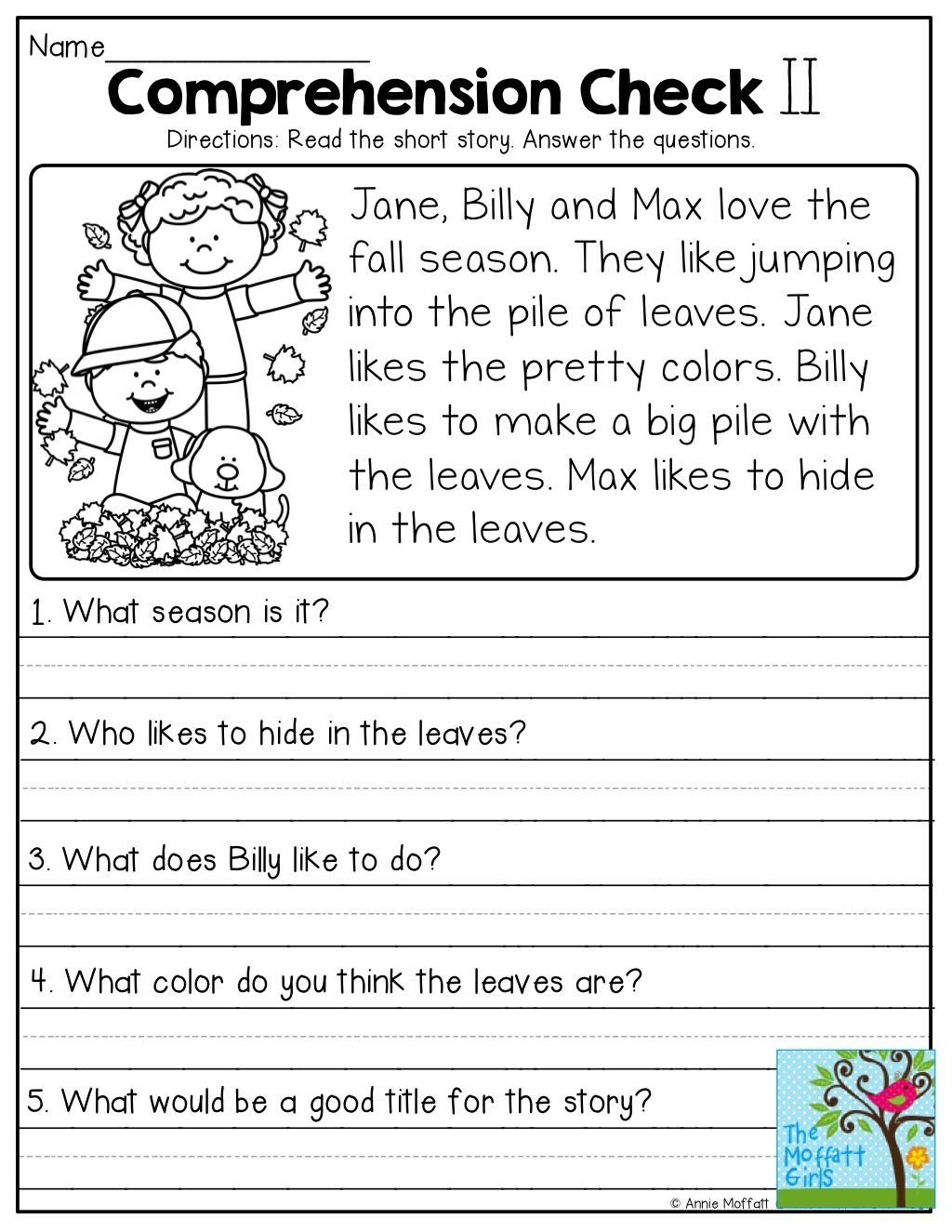 10 Pretty Short Passages For Main Idea kindergarten reading comprehension passages main idea sequencing 2021