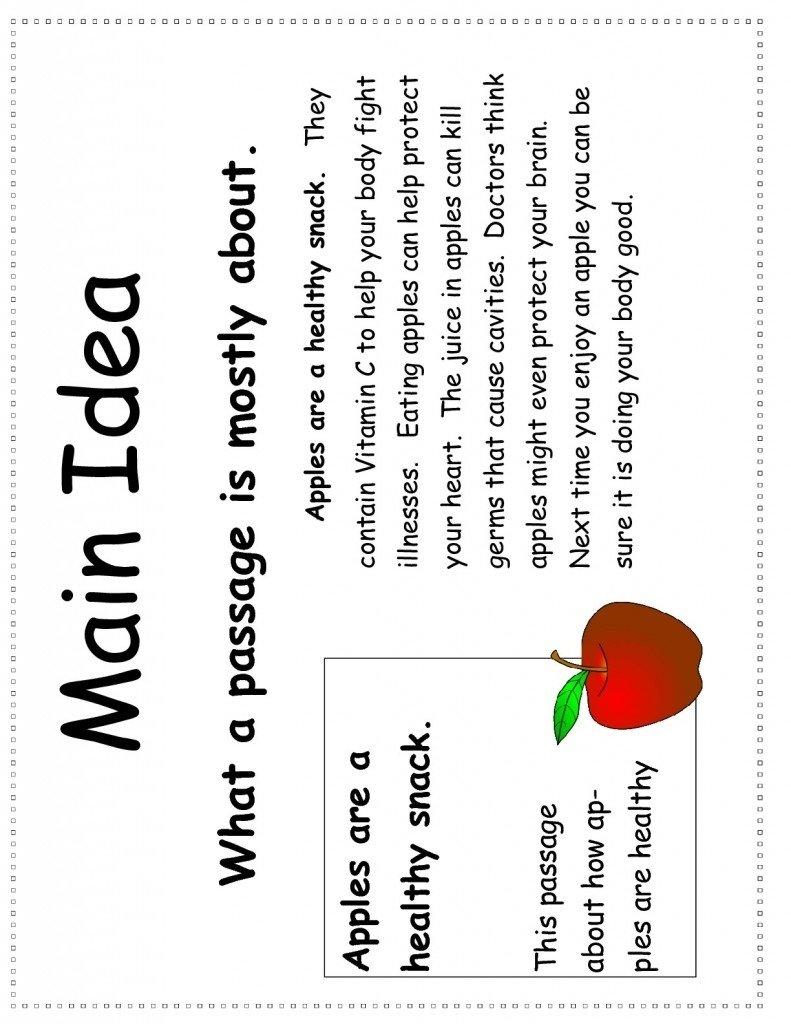 Worksheets Kindergarten Main Idea Worksheets 10 elegant reading comprehension main idea worksheets kindergarten for all download and share 1