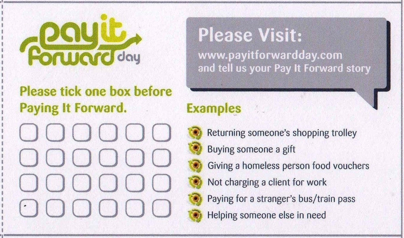 10 Nice Pay It Forward Project Ideas kindness uk primary schools resources pay it forward cards 2020