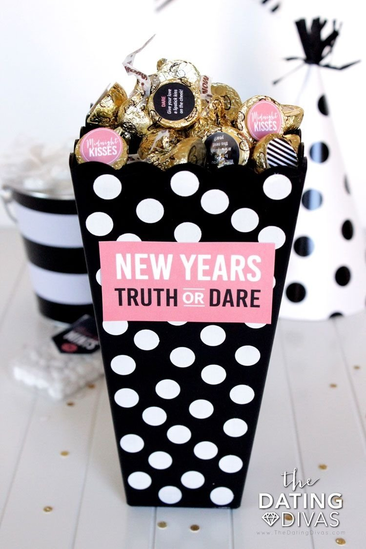 kiss me! new year's eve idea | truths, gaming and nye