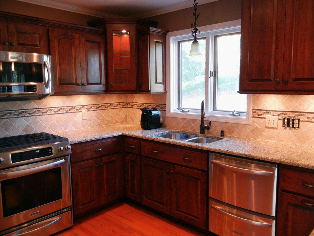 10 Attractive Backsplash Ideas For Cherry Cabinets kitchen backsplash ideas with cherry cabinets e280a2 kitchen backsplash 2020